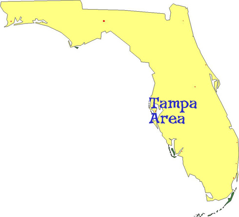 Map of Florida showing French, German and Spanish language classes, activities and childrens programs for kids