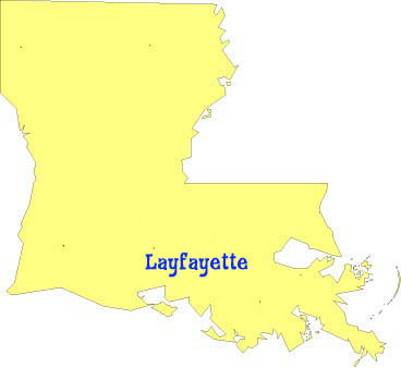 Map of Louisiana showing French, German and Spanish language classes ...